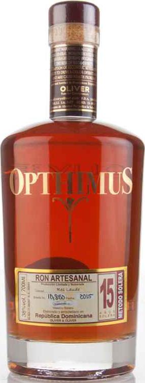 Opthimus 15 year Rum 38°